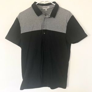 Express Stretch Mens Lg Cotton Collar polo shirt